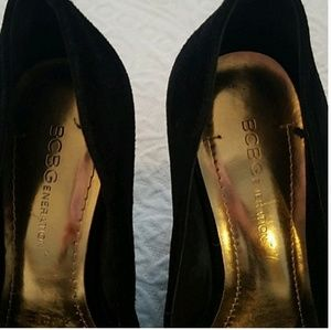 BCBG Shoes - BCBG black wedge heels